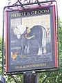 Sign for the Horse and Groom, Woodgreen - geograph.org.uk - 885023.jpg