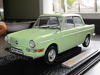 Model car - A 1962 BMW LS Luxus 2-door made by Signature Models, one of the better diecast metal brands made in China.