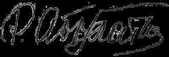Ramazan Abdulatipov - Image: Signature of Ramazan Abdulatipov