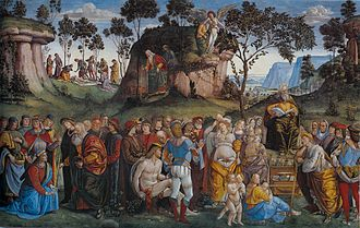Testament and Death of Moses - Image: Signorelli, Luca Moses's Testament and Death 1481 82