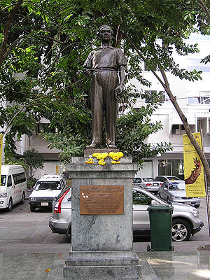 Silpa Bhirasri - The statue of Silpa Bhirasri at Silpakorn University