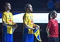 Singing National anthems, EFT 2018 Sweden vs Finland 3.jpg