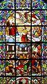Sint-Laurentiuskerk (Lokeren) - Glasraam - De marteling en verheerlijking van Laurentius, gemaakt door Charles Lévêque (1875).jpg