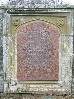 Sir James Montgomery, 1st Baronet - Sir James Montgomery's gravestone at Stobo Kirk.