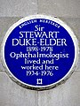 Sir STEWART DUKE-ELDER 1898-1978 Ophthalmologist lived and worked here 1934-1976.jpg