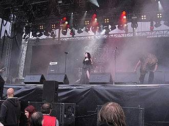 Sirenia (band) - Sirenia performing live at Norway Rock Festival in 2009