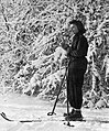 Skiing, portrait, woman, winter, snow Fortepan 52496.jpg