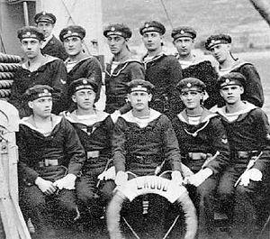 Galeb-class minelayer - Image: Slovenski mornariški podčastniki vojne ladje Labud