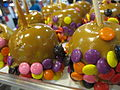 Smartie toffee apples (3813796288).jpg