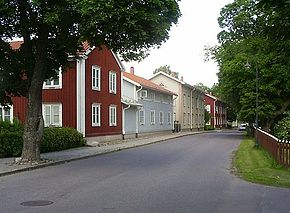 Smedjebacken Church Street in July 2009