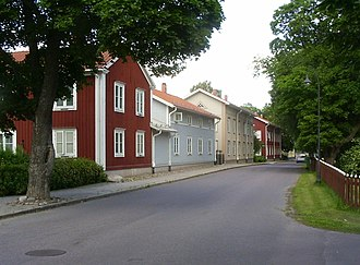 Smedjebacken - Smedjebacken Church Street in July 2009