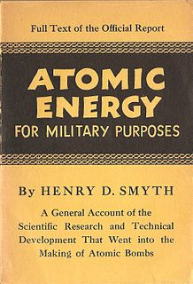 Smyth Report First official account of the Manhattan Project