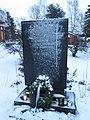 Sodissa Karjalaan jaaneiden vainajien muistomerkki Pirkkala 1956.jpg