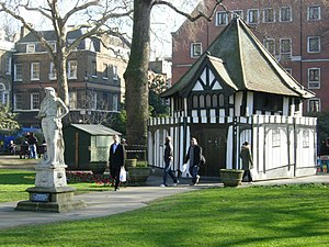 Statue of Charles II, Soho Square - The statue in Soho Square in 2008