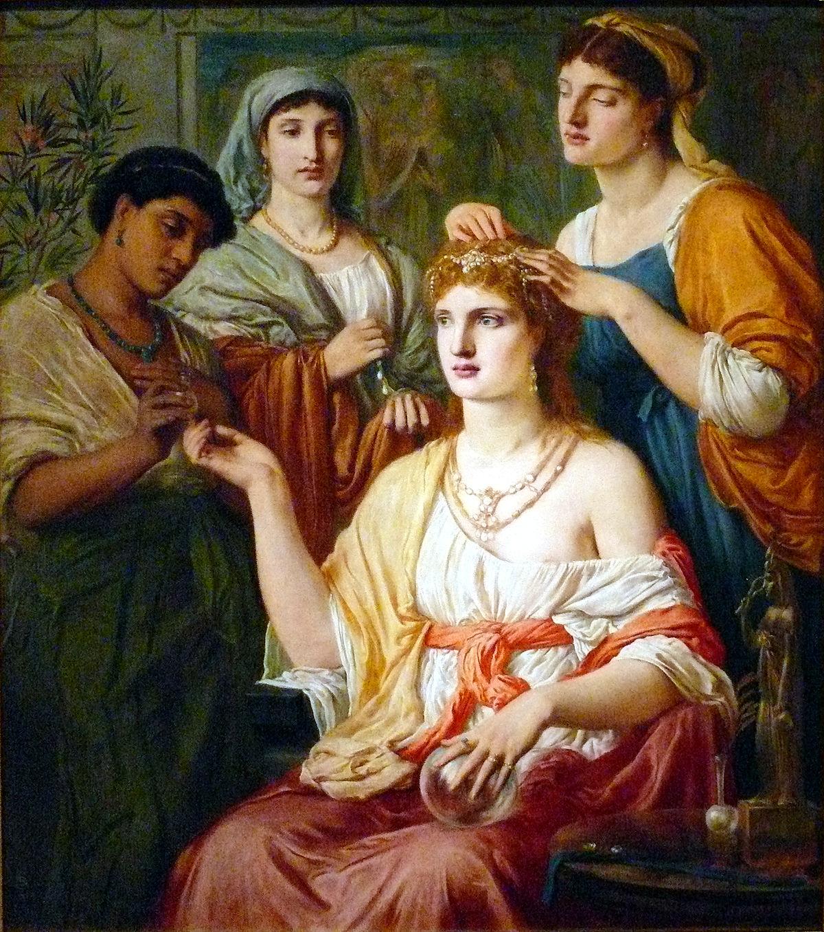 Le Camere Da Letto Degli Antichi Romani : Toeletta mattutina nell antica roma wikipedia
