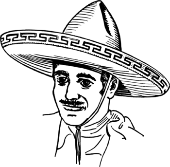 Line art representation of an Sombrero