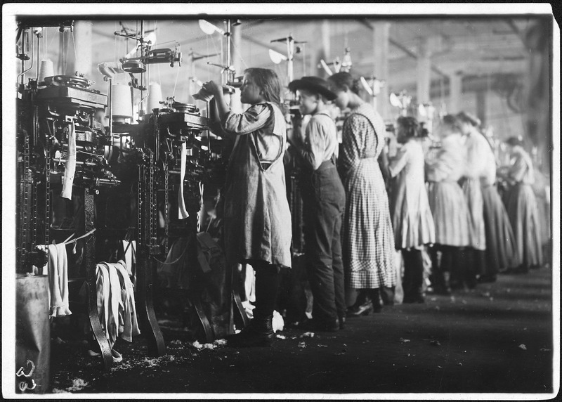 Some of the young knitters in London Hosiery Mills. Photo during work hours. London, Tenn. - NARA - 523369
