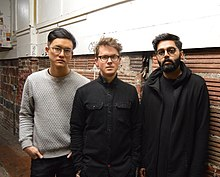 Son Lux in 2016. From left to right: Ian Chang, Ryan Lott and Rafiq Bhatia.