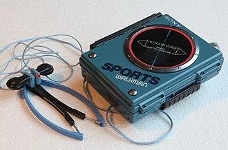 Personal stereo - A Sony WM-75 Sports Walkman