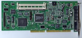 Parallel ATA - A SoundBlaster 32 16-bit ISA sound card, from after connector standardization had occurred, with an IDE interface for the CDROM drive.