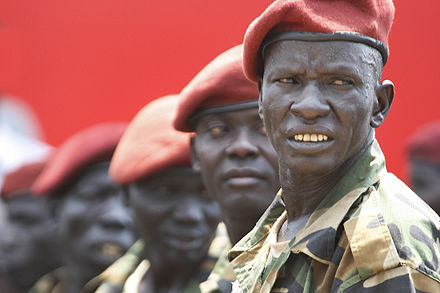 South Sudan's presidential guard on Independence Day, 2011 South Sudan Independence.jpg