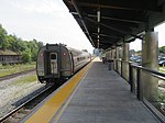 Southbound Vermonter leaving Holyoke station, August 2018.JPG