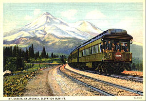 Cascade (train) - Postcard of the train in 1935