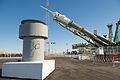 Soyuz TMA-10M spacecraft at the Baikonur Cosmodrome launch pad (2).jpg