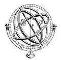 Sphère armillaire simple miroir 608- T7 Panckoucke.png