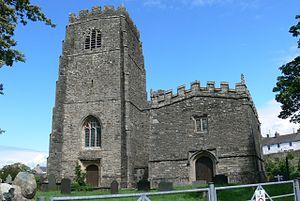 Beuno - St Beuno's church (left) and chapel (right) at Clynnog in Gwynedd
