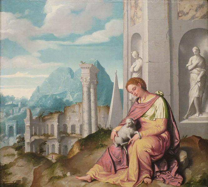 File:St. Agnes by Giovanni Battista Moroni, Columbus Museum of Art.JPG