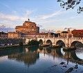 St. Angelo Bridge & Castel Sant'Angelo, Rome (38984531824).jpg
