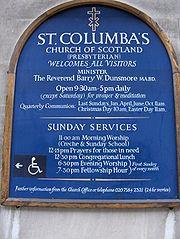 st columba biography