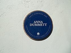 Photo of Anna Dummett blue plaque