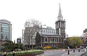 The Church of was in the City of London section of the parish