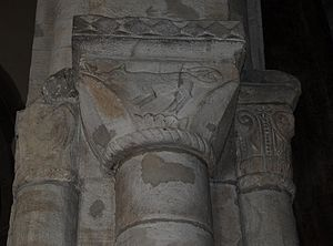 Church of St Lawrence, Alton - Norman stonework