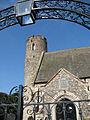St Mary's church - framed by the churchyard gate - geograph.org.uk - 1510553.jpg