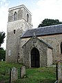 St Mary's church - porch and tower - geograph.org.uk - 876184.jpg