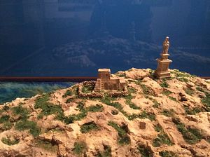 St Paul's Island - Model of Ta' Bajdafin Farmhouse, at the National Museum of Natural History