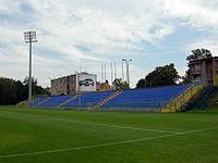 Stadion Miejski Bielsko-Biała trybuna odkryta July 2011.jpg