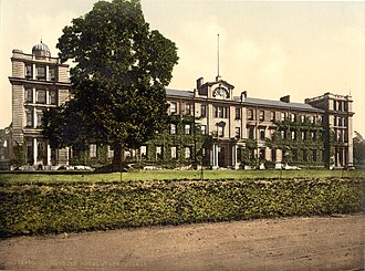 Staff College, Camberley - Old print of the College
