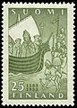 Stamp 1955- Swedish Crusades to Finland 800 years ago.jpg
