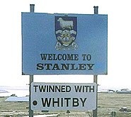 Roadsign to Stanley.
