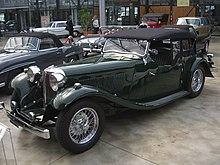 Uno dei primi esemplari, la SS1 in versione cabriolet (1932).