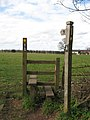 Start of footpath with stile - geograph.org.uk - 1773679.jpg