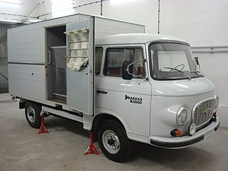 Stasi - Example of Stasi covert prisoner transport vehicle based on the B1000 van. On display at the Hohenschönhausen prison memorial in Berlin.