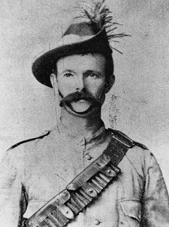 Private H. L. Reece of the 1st Contingent of the Queensland Mounted Infantry was killed in the Battle of Sanna's Post StateLibQld 1 100280.jpg