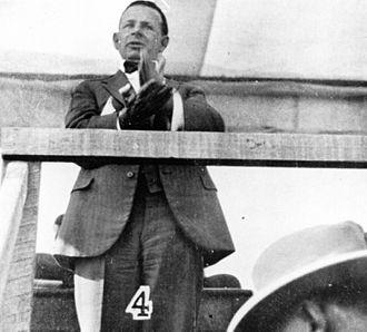 James Larcombe - Larcombe speaking in 1928.