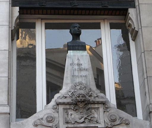 Statue Eugène Scribe - Angle des rues Saint-Denis et Reynie à Paris