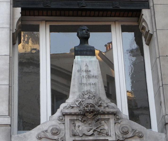 File:Statue Eugène Scribe - Angle des rues Saint-Denis et Reynie à Paris.JPG
